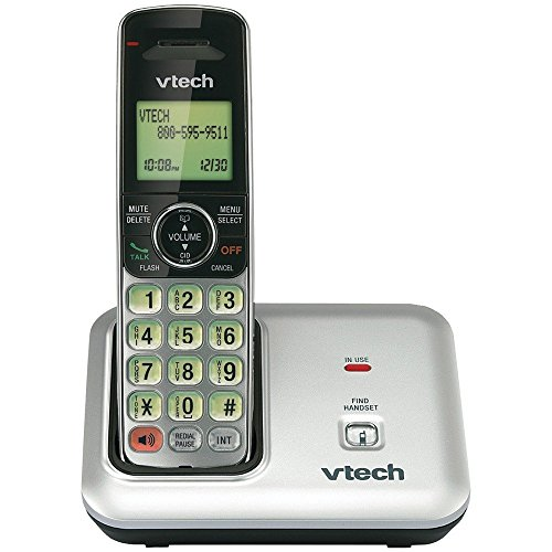 Dect Phone Stylish - VTech CS6419 DECT 6.0 Cordless Phone with Caller ID, Expandable up to 5 Handsets, Wall-Mountable, Silver/Black