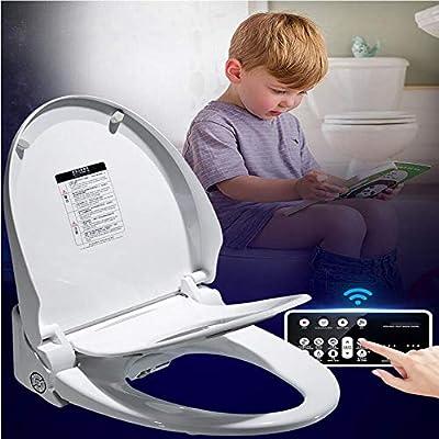 BTSSA with Children's Toilet Remote Control Advanced Smart Toilet Seat Bidet,Warm air Dryer Heated seat Auto Mode