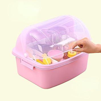 Caja de almacenamiento de botella Caja de plástico de drenaje Clamshell A prueba de polvo Baby
