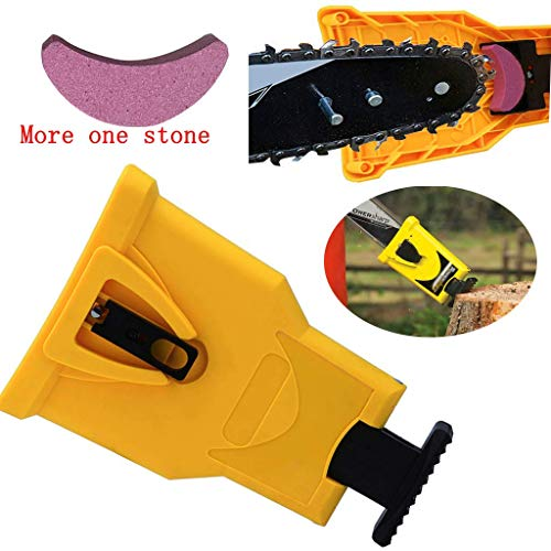 Chain Saw Sharpener Teeth Chainsaw Blade Self Sharpening Kit Fast-Sharpening Grinder Woodworking Grinding Power Tools With a Free Stone