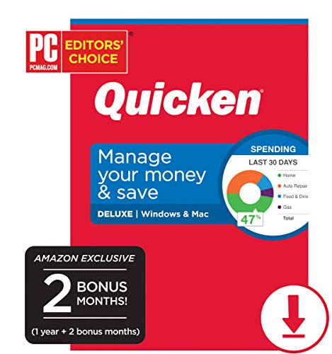 Quicken Deluxe Personal Finance - 14-Month Subscription [Amazon Exclusive] [PC/Mac Online Code]