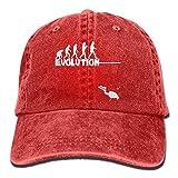 AJG25_ids Baseball Cap Men Women, Evolution Scuba Diving Women's Cotton Adjustable Denim Cap Hat