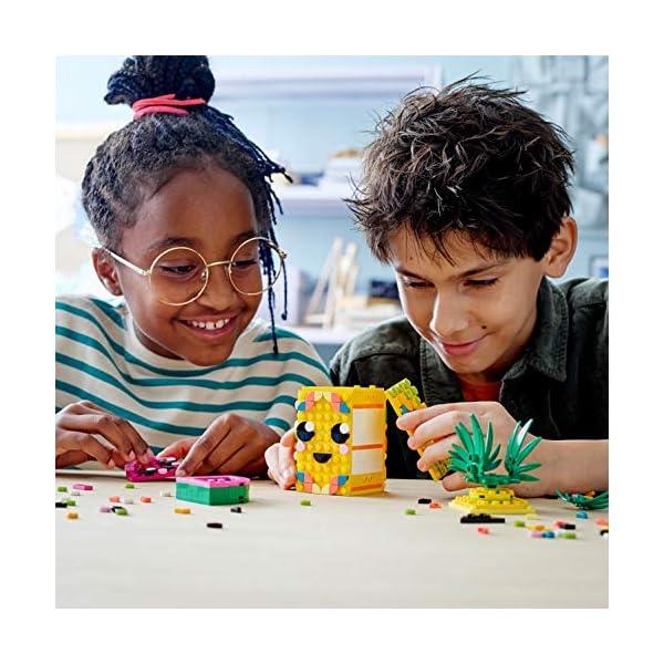 LEGO- Dots Portapenne Decora i Pannelli dell'Ananas e della Piccola Scatola Anguria ed Esponi Le tue Creazioni, Set di… 5 spesavip