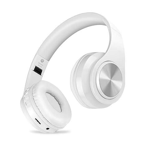 Auriculares inalámbricos Bluetooth, Headphones Plegables con Micrófono, Deportivos Estéreo HiFi Bajos Profundos Compatible con