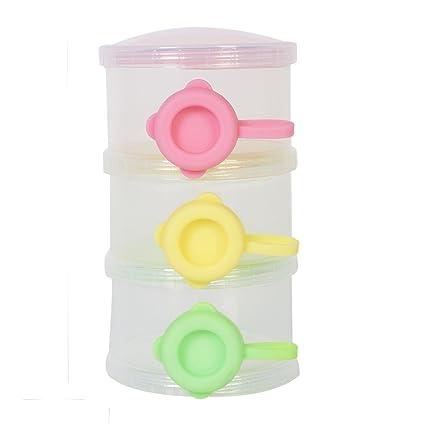 La leche en polvo colorido dispensador portátil Snacks contenedor de almacenamiento