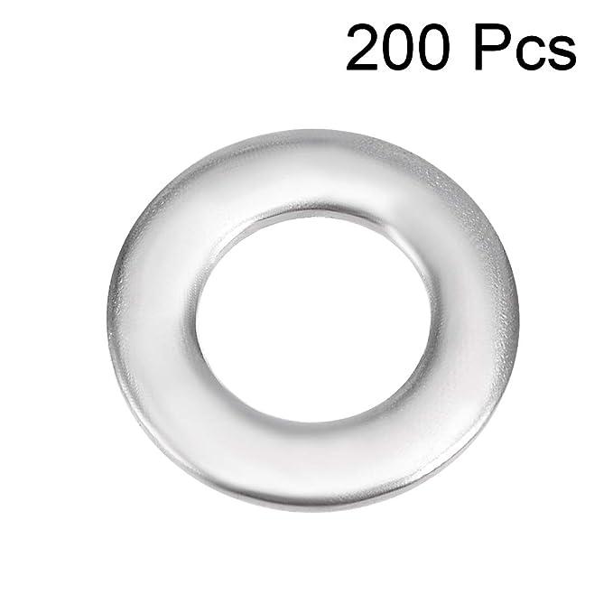 Arandela plana de acero inoxidable 304 para tornillos Sourcingmap 5 mm x 10 mm x 0,8 mm