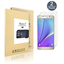 [2 pack] Samsung Galaxy Note 5 Screen Protector, EasyULT Premium Tempered Glass Screen Protector,with Double Defense Technology with [2.5D Round Edge] [9H Hardness] [Crystal Clear] [Scratch Resist] [No-Bubble]