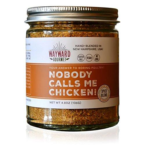 Nobody Calls Me Chicken! Rub & Seasoning by Wayward Gourmet - Lemon & Herb Spice Blend for Chicken, Fish & Veggies - The Best Chicken Seasoning