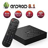 Android 8.1 TV Box with 4GB RAM 64GB ROM RK3328 Bluetooth 4.1 Quad-Core