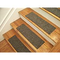 Essential Carpet Stair Treads - Style: Brush - Color: Graphite Gray - Size: 24 x 8 - Set of 13
