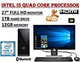 Dell Inspiron 3668 27'' Full HD i3668 Desktop Bundle ~ 7th Gen. Intel Core i5-7400 Quad Core 3.0GHz ~ 12GB DDR4 ~ 1TB 7200RPM HDD ~ DVDRW ~ WiFi+BT ~ 1080P Dell 27.0'' Monitor ~ Windows 10