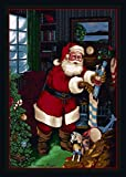 "Cheap Milliken Holiday Collection Santa's Visit, 3'10"" x5'4 Rectangle, Kris Kringle"