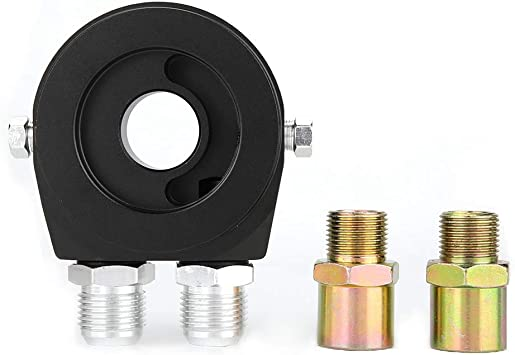 Adaptador del Filtro de Aceite kit de Adaptador de Indicador de Temperatura de Presi/ón de Aceite del Refrigerador del Filtro de Aceite de Aluminio Universal