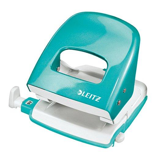 Leitz 50081051 Bürolocher WOW Nexxt, Metall, 30 Blatt, eisblau