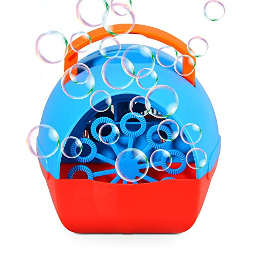 Theefun Bubble Machine for Kids, Automatic Bubble Blower Durable Bubble Maker, USB or Battery Operated, Over 500 Bubbles Per Minute for Outdoor or Indoor Use,, (Column Usb Cable)