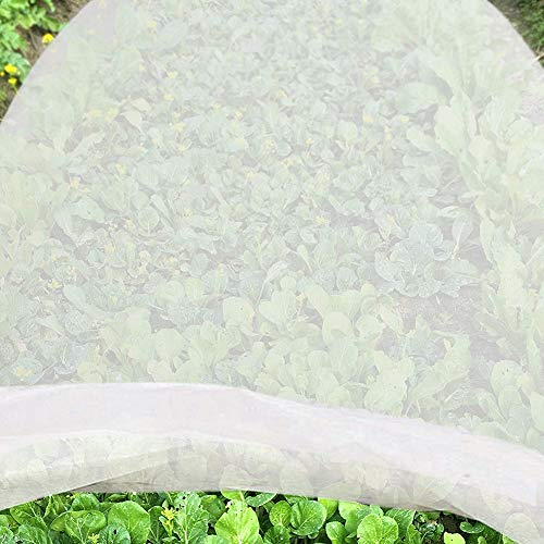 NMFIN Plant Covers Freeze Protection| Plant Blanket Fabric| Floating Row Cover |6.6X 33 ft Reusable Frost Cloth for Frost Protection, Harsh Weather Resistance& Seed Germination