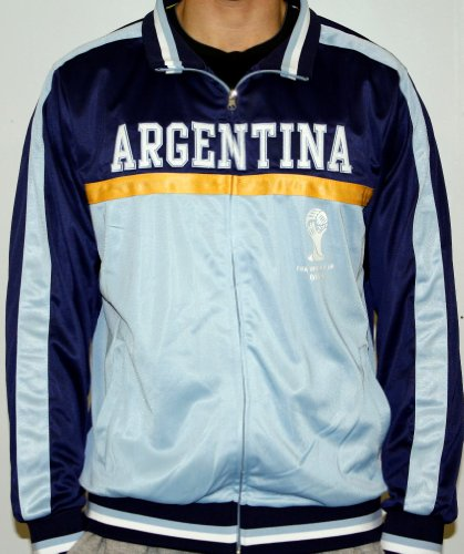 - Men's 2014 FIFA World Cup Soccer Hat Trick Argentina Yoke Track Jacket (Adult X-Large)