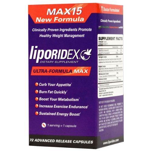 Liporidex MAX15 w / Café Vert - Ultra Formule supplément de perte de poids thermogénique Fat Burner métabolisme Booster & Appétit - Le moyen facile de perdre du poids rapidement!
