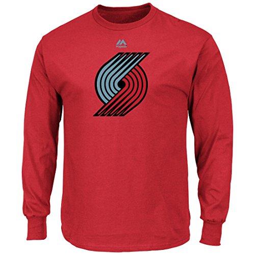 Majestic Portland Trail Blazers NBA Supreme Logo Men's Long Sleeve T-Shirt