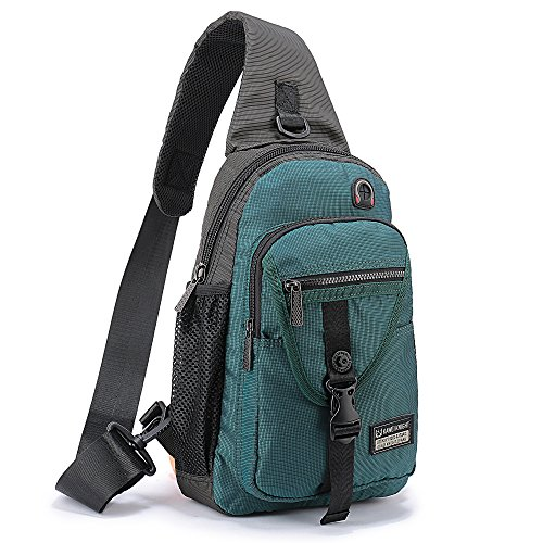 DDDH Sling Bags Chest Pack Triangle One Shoulder Crossbody Backpack for Outdoor Camping Hiking Man Women (Dark Green 11.6)