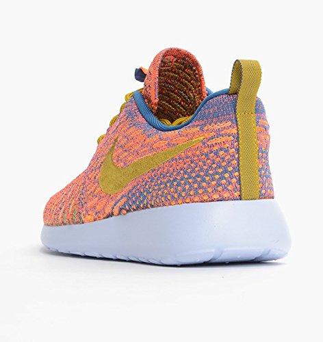 Nike Wmns Roshe Une Flyknit 704927-402 Brigade Bleu Chaussures De Course Cédrat Noir