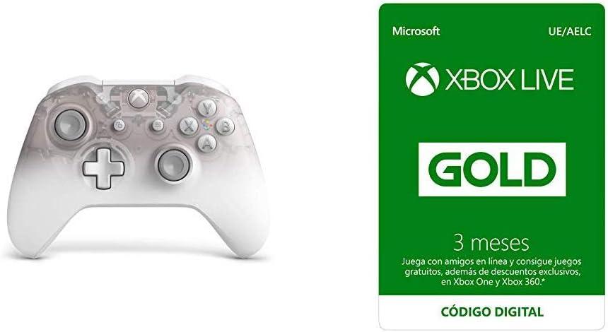 Microsoft - Mando Inalámbrico Phantom White - Edición Especial (Xbox One) + Suscripción Xbox Live Gold - 3 Meses: Amazon.es: Videojuegos
