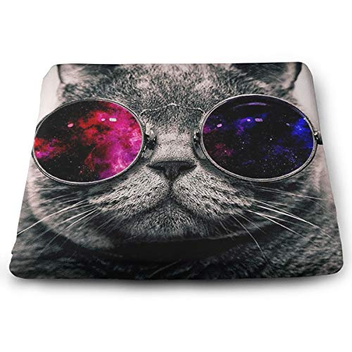 Comfortable Seat Cushion Chair Pad Red Black Glass Personality Cat Kitty Perfect Memory Foam Cushions Lighten The Bumps -