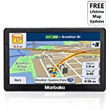 GPS Navigation for car, 7 inch HD Capacitive Touch Screen GPS Navigation system with 8G Memory, Attach Sunshade,Free Lifetime Maps Update ,Pre-install North America map,Smart Voice Prompts