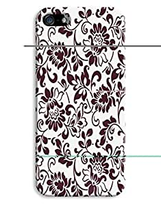 Black and White Floral Case for your iPhone 5/5S