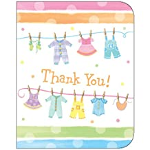 Creative Converting Baby Clothes Thank You Notes (8 Per Package)