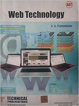 Web Technologies Ebook By Puntambekar