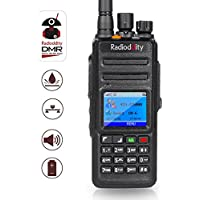 Radioddity GD-55 Plus 10W IP67 Waterproof UHF 400-470MHz 256CH 2800mAh DMR Digital Two Way Radio Ham Radio Compatible with Mototrbo Dual Time Slot, with Free Programming Cable and 2 Antennas