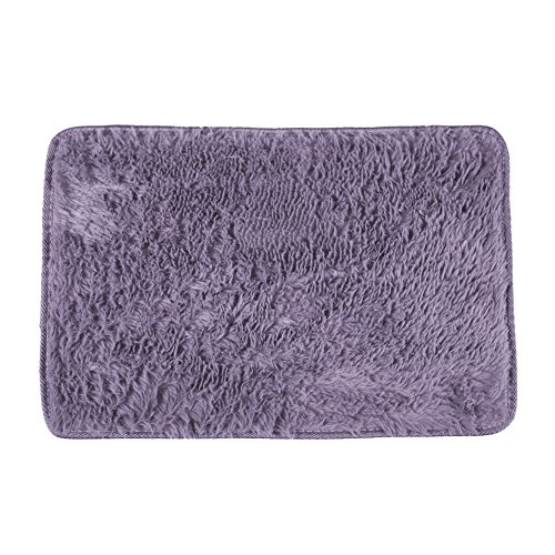 Shaggy Anti-skid Carpets Rugs Floor Mat/Cover 80x120cm Purple - 5