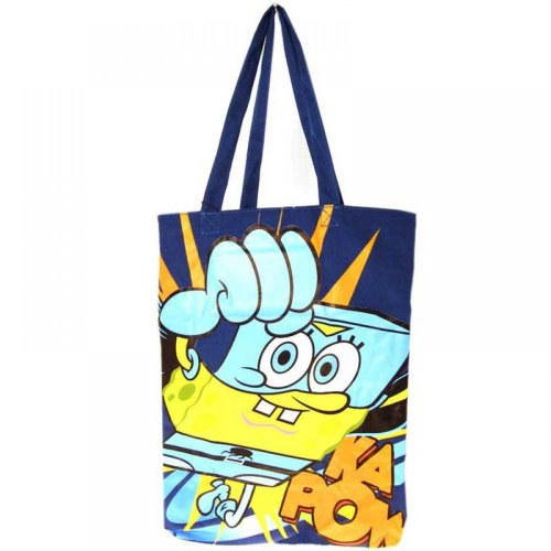 SpongeBob SchwammkopfSuper SpongeSummer Cotton Shopper Tote Bag Tasche, offizielles, lizenziertes Produkt)