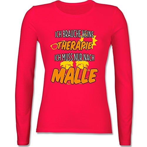 Urlaub - Ich brauche keine Therapie ich muss nur nach Malle - XS - Rot - BCTW013 - tailliertes Longsleeve / langärmeliges T-Shirt für Damen