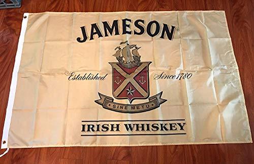 Whiskey Advertisement - Jameson Irish Whiskey Flag Banner Advertisement 3 x 5 feet