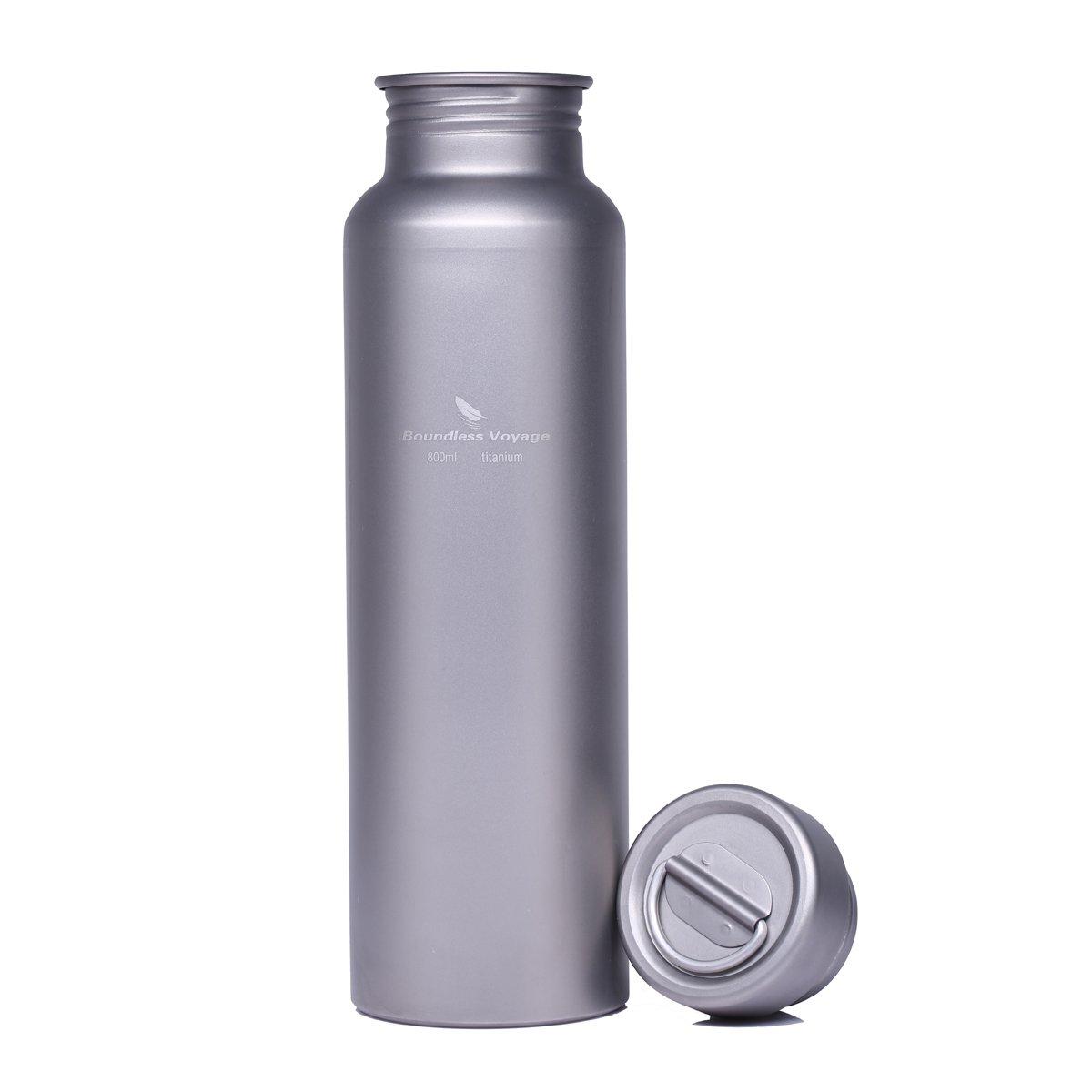 Wasser Flasche, zyvoyage [Klauenhammer/172g] 99,9% Titan Sport Wasser Flasche mit abriebfesten Tragetasche, non-leak, umweltfreundlich Langlebige Titan Fahrrad Wasser Flaschen Camping Trinkflasche für Outdoor