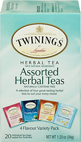 Twinings of London Assorted Herbal Tea Bags, 20 Count (Pack of 6) ()