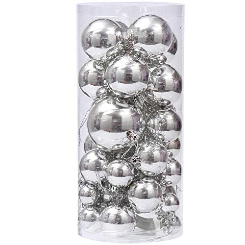 Rongyuxuan Christmas Ornaments Balls 40ct Shatterproof Christmas Tree Decor Ball Bauble Hanging Xmas Party Ornament Decorations for Holiday Wedding Party Decoration
