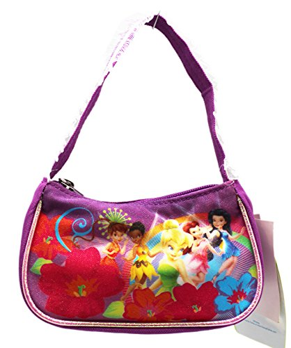Disney Fairy Handbag (Disney Fairies Tinker Bell and Friends Violet Fabric Cosmetic Bag)
