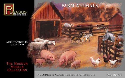 Farm Animals - 1:48 Plastic Kit by Pegasus Hobbies by Pegasus Hobbies