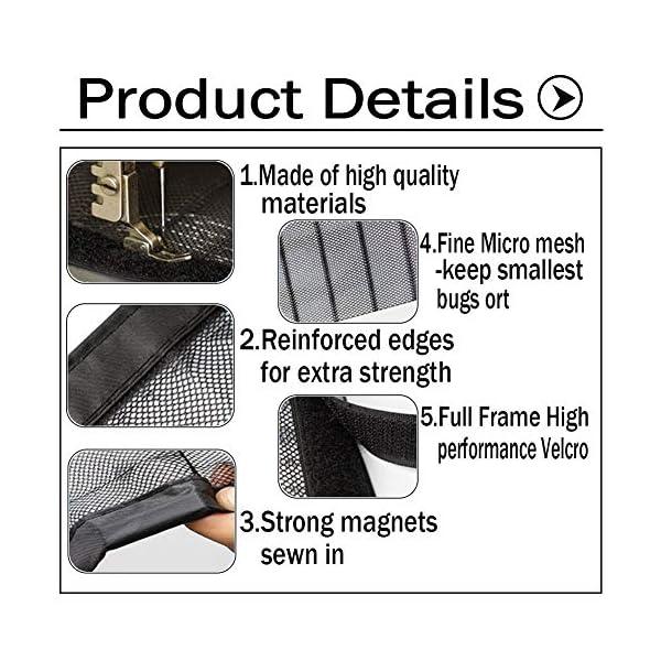 GUOGAI Zanzariera Magnetica Finestra 180x220cm(71x87inch) Tenda Anti Zanzare Rete Anti Insetti Totalmente Magnetica per… 5 spesavip