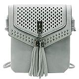 ab332e96add9 Bloomn handbag Lightweight Medium Crossbody Bag with Tassel   Zipper Pocket    Adjustable Shoulder Strap