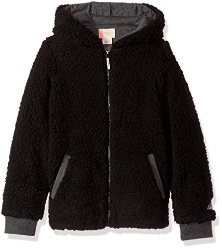 Roxy Big Girls' Fashion Sherpa Sweatshirt, Charcoal Heather, 12/L by Roxy