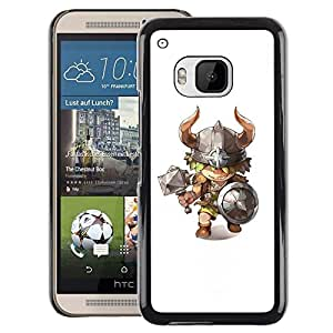 Red-Dwarf Colour Printing Viking Axe Hammer Horns Kids Character - cáscara Funda Case Caso de plástico para HTC One M9