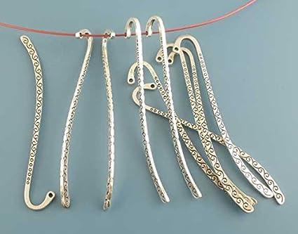 Lesezeichen gestalten Geschenkidee Farbe:Bronze basteln Verzierung Sadingo Metall Lesezeichen mit /Öse 8,5 cm 10 St/ück