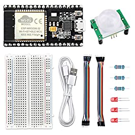 WayinTop PIR Motion Sensor Detection Kit for ESP32 DIY Home Automation Project, Development Board for ESP32 + HC-SR501…