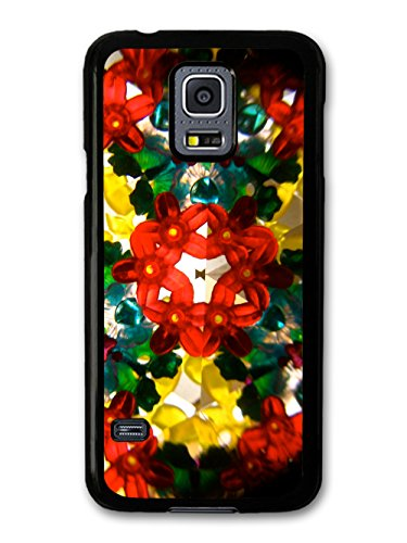Cool Psychedelic Kaleidoscope with Colourful Hipster Shapes coque pour Samsung Galaxy S5 mini