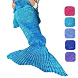 Amazon Price History for:DDMY Knitted Mermaid Tail Blanket For Kids Adult Handmade Crochet Mermaid Sleeping Cotton and Woolen Blanket Warm Soft Living Room Quilt Best Birthday Christmas gift (B-Blue)