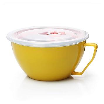 GerTong Acero Inoxidable Big Bowl con Tapa y asa para la Cocina casera, de Doble